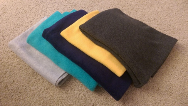 The starting fabric palette! A few repeat colors from my Transistor plush.