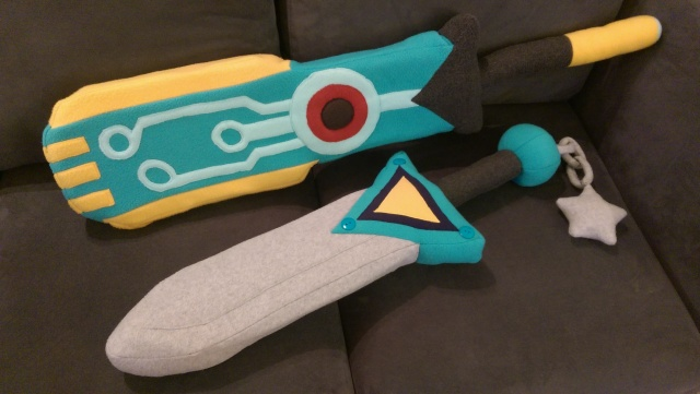 Best friends. The Transistor may be larger, but the Broken Sword is actually heavier.