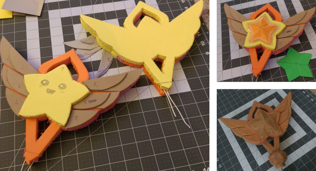 Having a little fun with staff construction... between burning my fingers with Worbla massaging :C