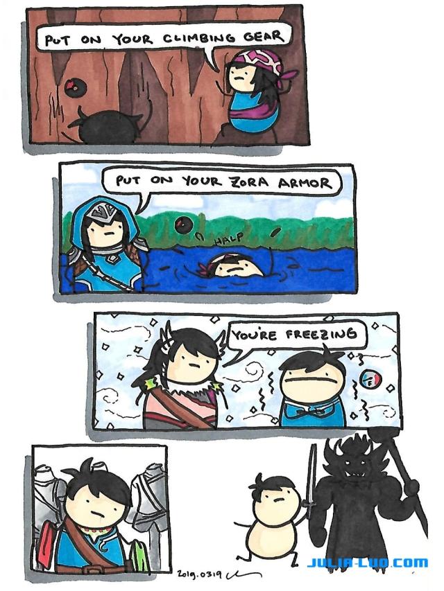 The Legend Of Zelda Breath Of The Wild Comic Log Julia Luo